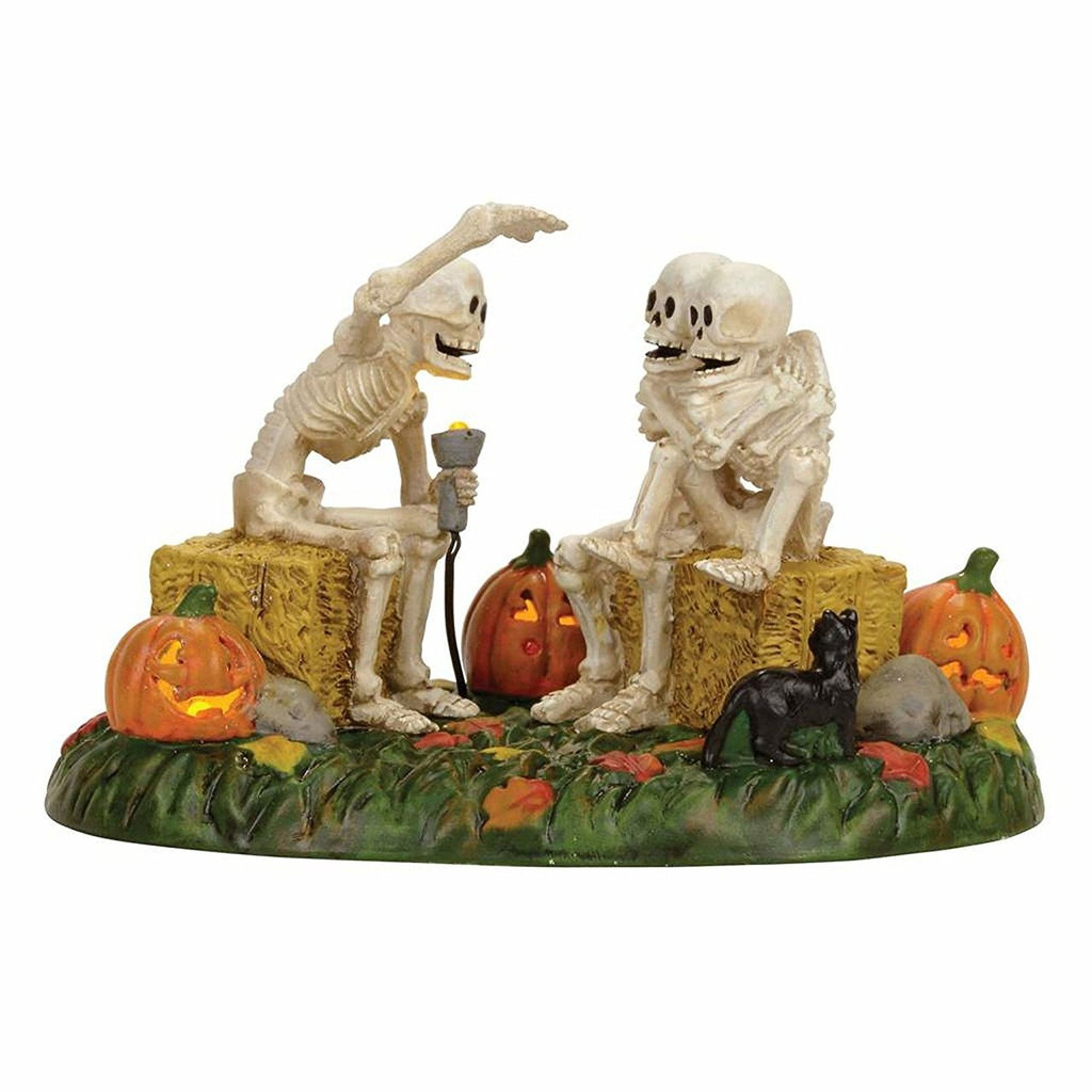 department 56halloween village accessory scary skeleton stories