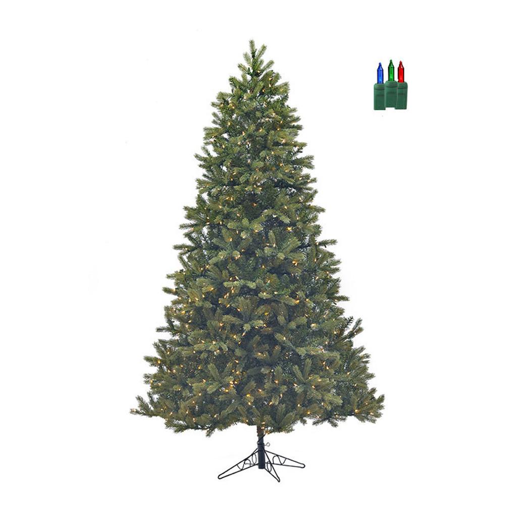 Douglas Fir Artificial Christmas Trees: Santa's Own* 7.5ft Bridgeport Douglas Fir- Artificial