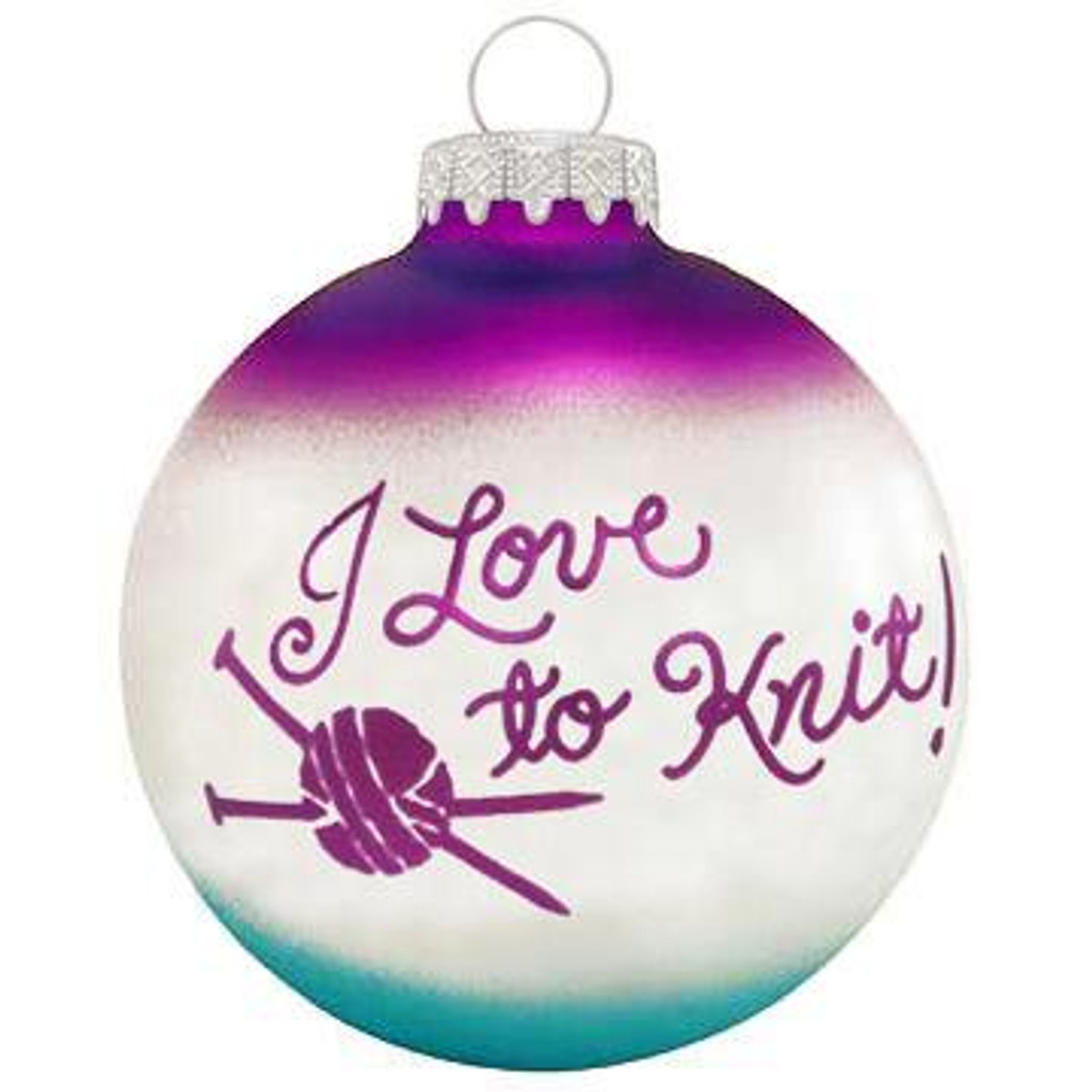 Love To Knit Ornament