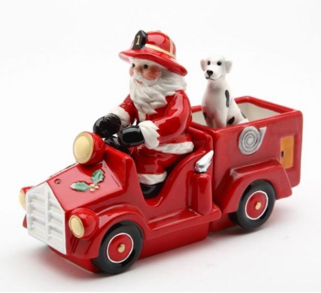 Santa Driving Firetruck Salt and Pepper Combination