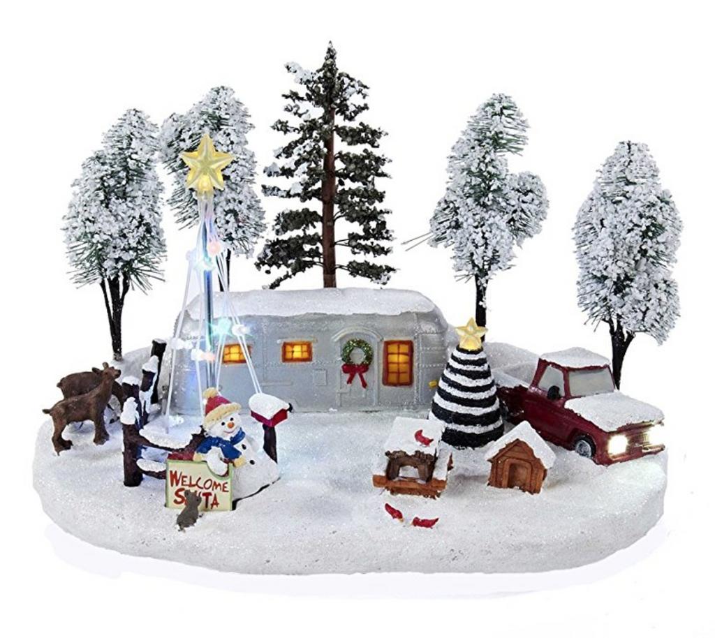 Kurt Adler Battery-Operated Christmas LED Scene, 12-Inch