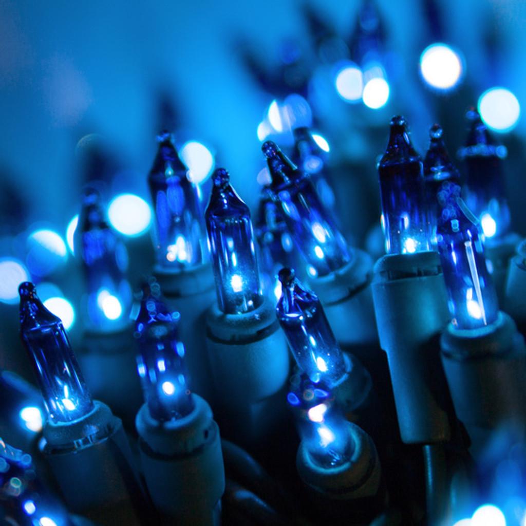25 FT - 50 BLUE LED INCANDESCENT LIGHTS