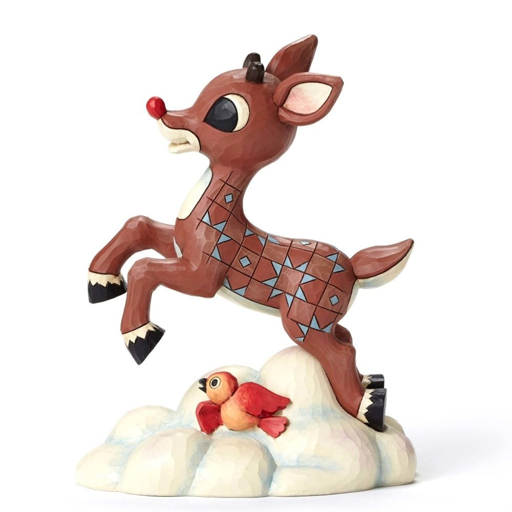 Jim Shore Rudolph Traditions - Rudolph Flying Above Clouds