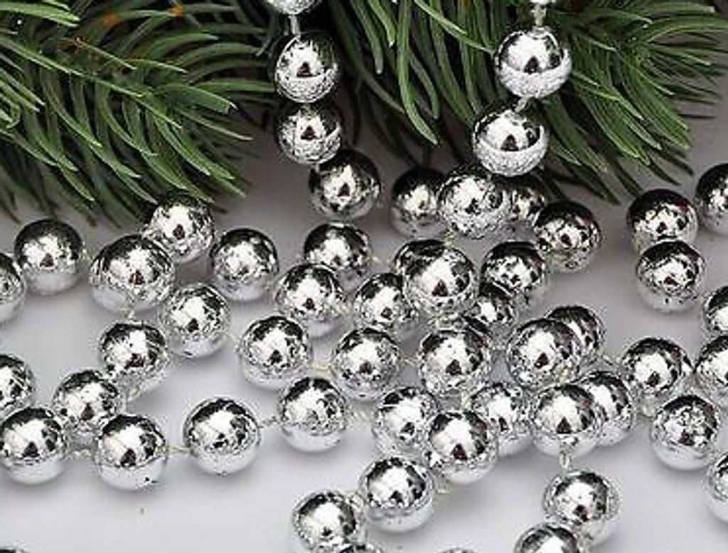 Kurt Alder - 15' Silver Bead Christmas Garland