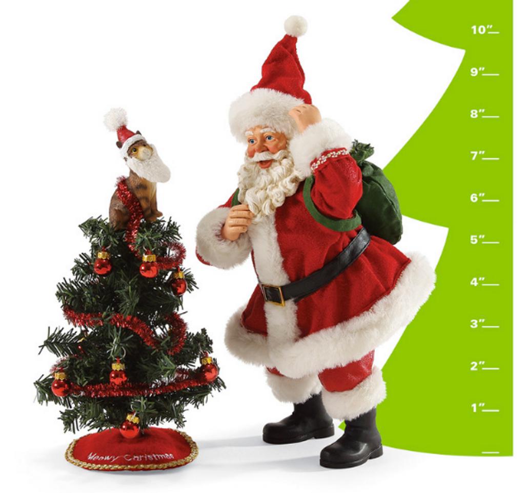 "Department 56, Possible Dreams, Santa Tree Toppler ""Clothtique"" Figurine,"