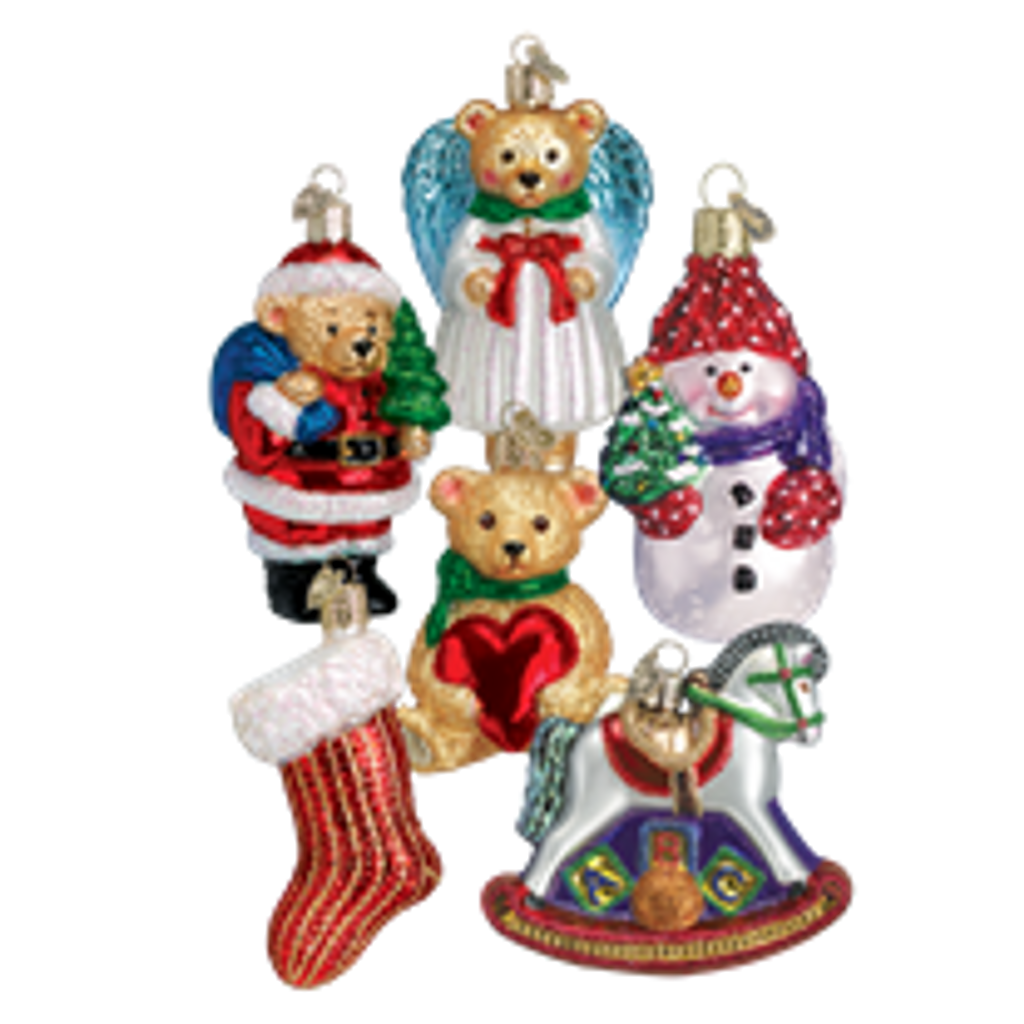 Old World Christmas Ornament Set of 6 Child's First Christmas Collection