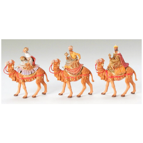 Fontanini 5-Inch 3 Kings on Camels Set of 3