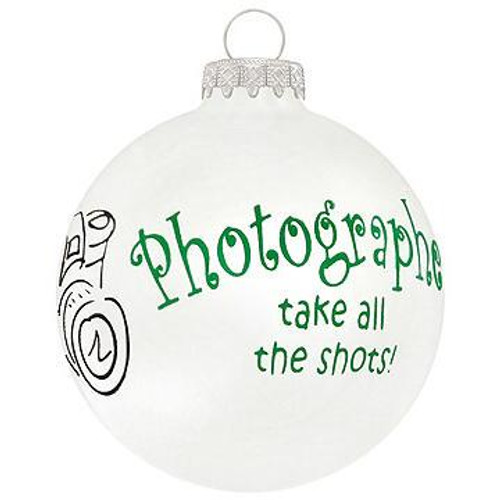 Photographers Glass Ornament