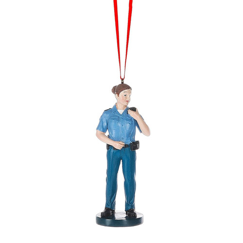Police Woman Ornament