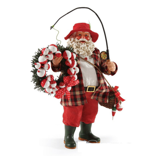 "Department 56, Possible Dreams, Catching the Spirit Santa ""Clothtique"" Figurine"