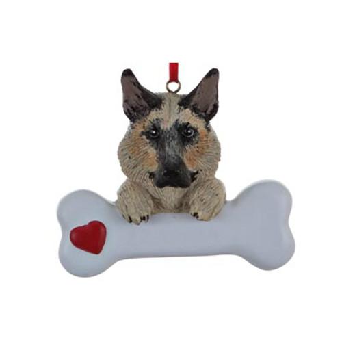 Personalizable -  German Shepard Dog Bone Ornament