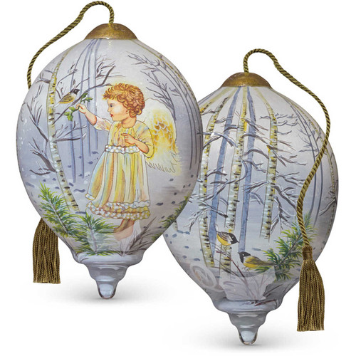 Ne'Qwa Art -- Winter Angel Ornament