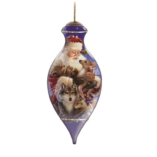 Ne'Qwa Art -- Santa's Woodland Friends Ornament