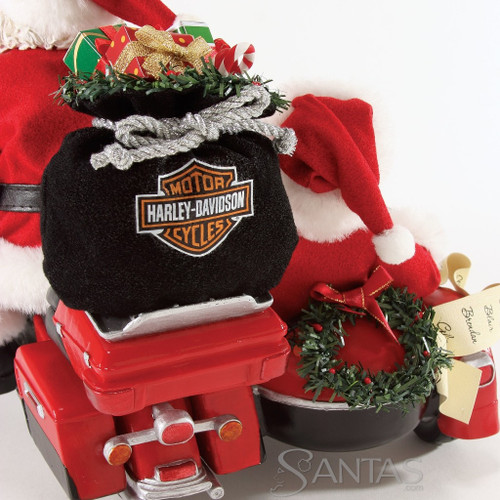 """Department 56, Possible Dreams, Good Day For a Ride Santa """"Clothtique"""" Figurine"""