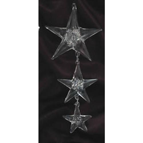 Spun Glass Triple Star Ornament