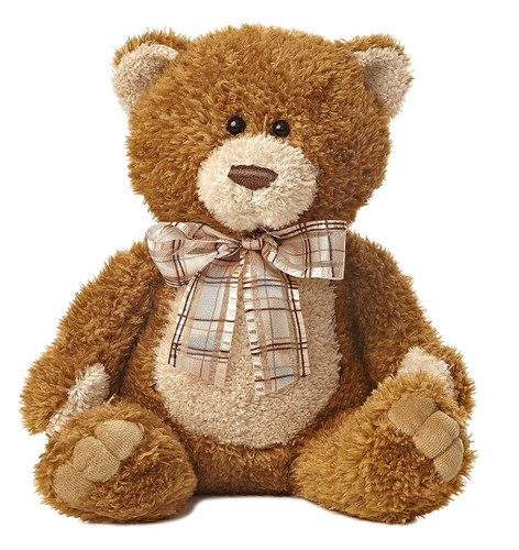 SOFT CUDDLY BROWN SUGAR BEAR PLUSH TOY 12 INCHES