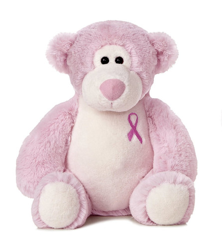 SOFT PINK CUDDLY BEAR PLUSH TOY 11 INCHES