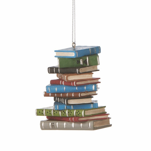 Pile of Books Ornament