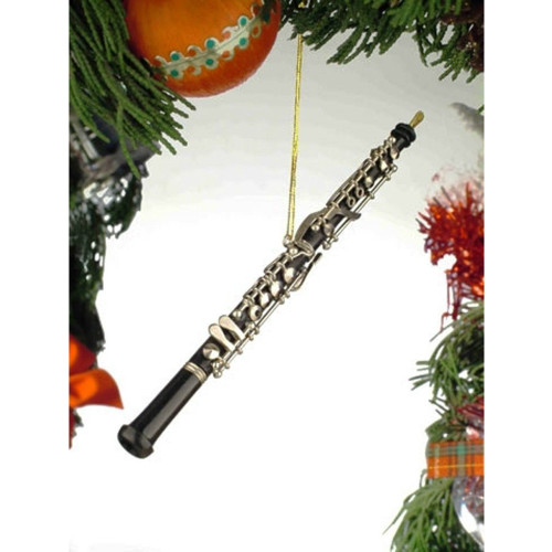 "6"" Black Oboe Ornament"