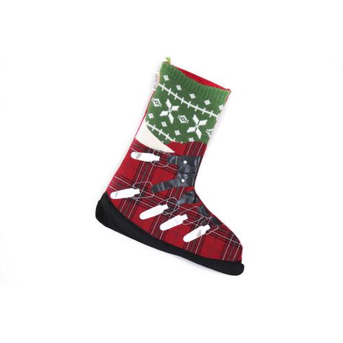 SKI LOVERS ALPINE SKI BOOT CHRISTMAS STOCKING