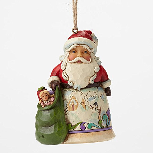 Jim Shore Heartwood Creek -  Santa with Winter Scene Ornament