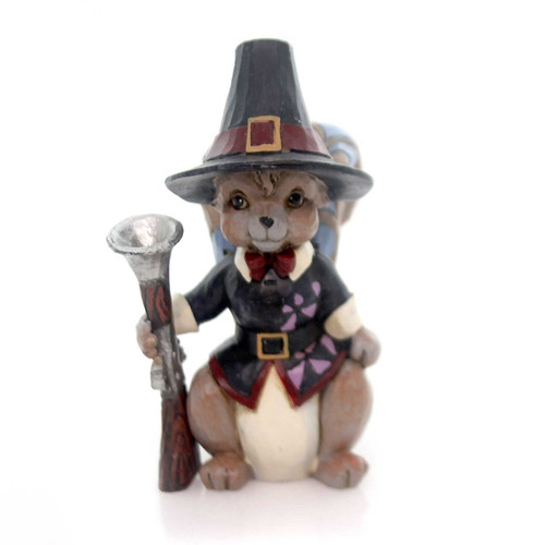 Jim Shore Heartwood Creek -  Mini Pilgrim Squirrel