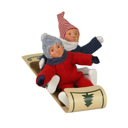 Byers Choice - Two Toddlers on Toboggan