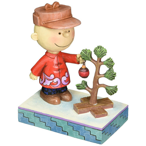 Jim Shore- Peanuts - Charlie Brown Decorating the Tree