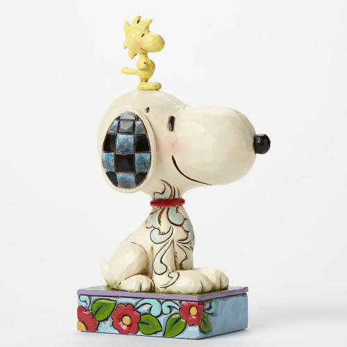 "Jim Shore- Peanuts - ""My Best Friend"" Snoopy and Woodstock"