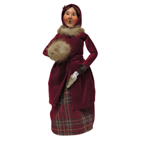 Byers Choice - Burgundy and Gold Family Woman
