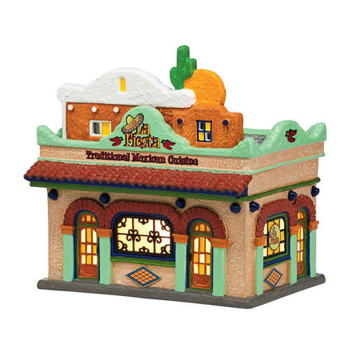Department 56- Original Snow Village- La Fiesta Restaurant Lit House