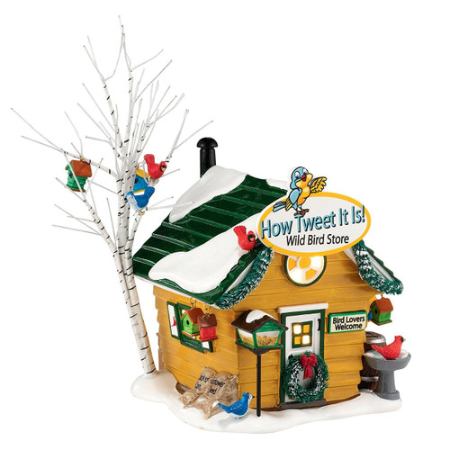 Department 56- Original Snow Village- How Tweet It Is! Wild Bird Store