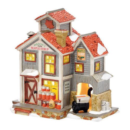 """Department 56 New England Village Mason's Maple Syrup Light House, 6.3"""""""