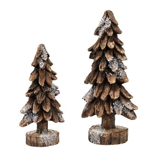 Depatrment 56 - Black Forest Pines Set of 2