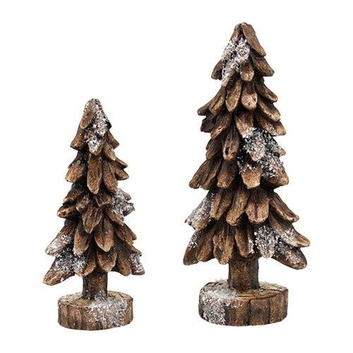 Depatrment 56 - Black Forest Pines Set of 2