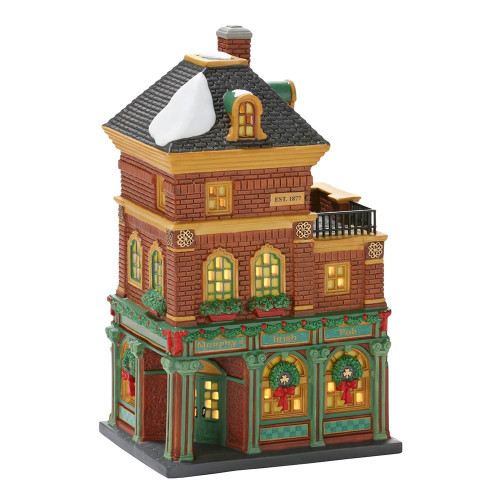 Department 56 Christmas in the City Village Murphy's Irish Pub Lit House