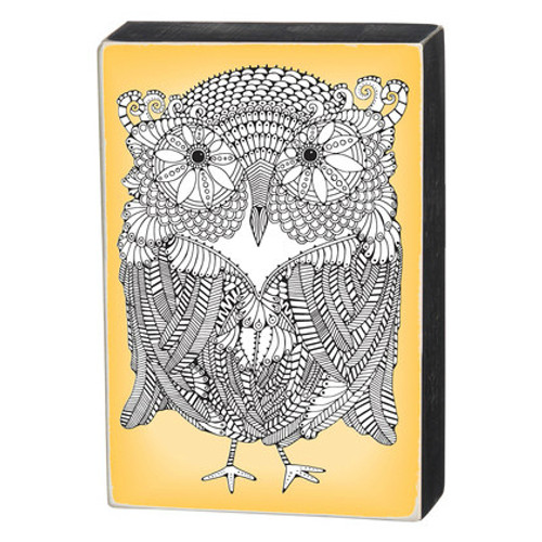 Primitives By Kathy - Coloring Box Sign - Owl