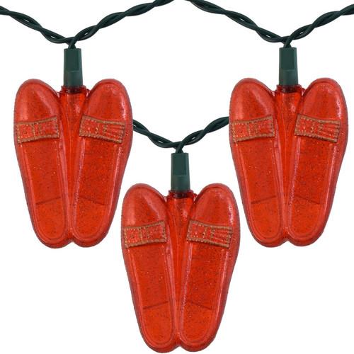Kurt Adler - 10 Light Ruby Slipper Novelty Lights