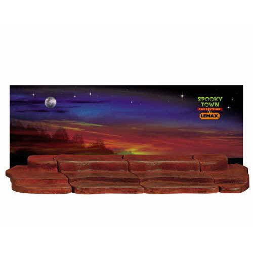 Lemax - 4ft Halloween Platform and Background