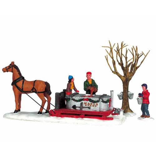 Lemax - Maple Syrup Sled Set of 3