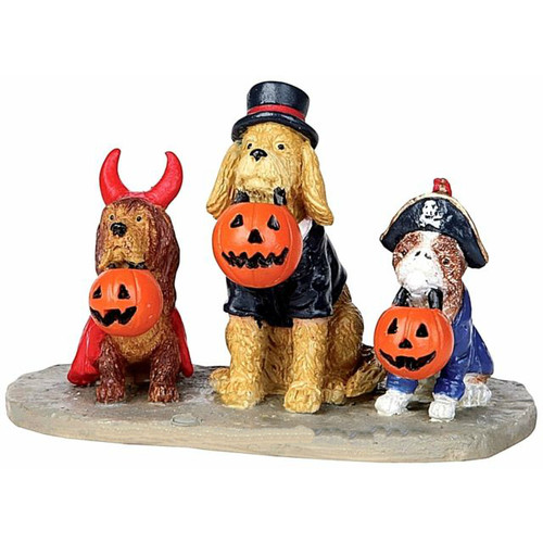 Lemax - Spooky Town Halloween Trick or Treat Dogs