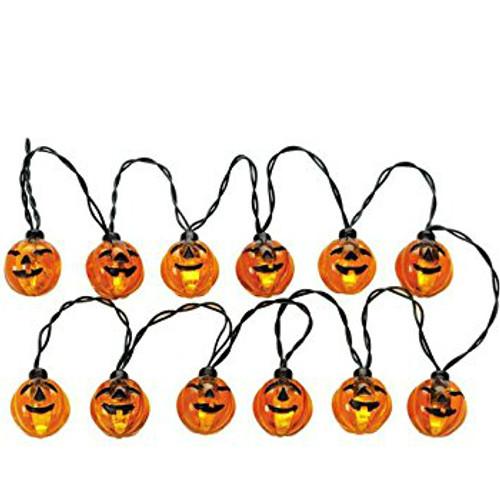 Lemax-  Lighted Pumpkin Garland Set of 12 B/O