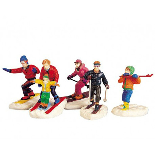 Lemax - Winter Fun Skiers Set of 5