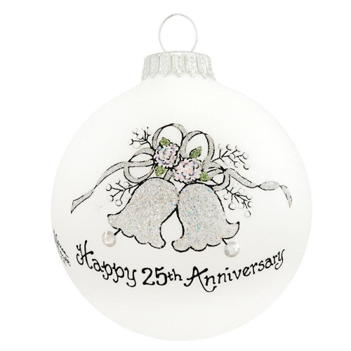 Heart Gifts by Teresa - USA Made 25th Anniversary Ornament