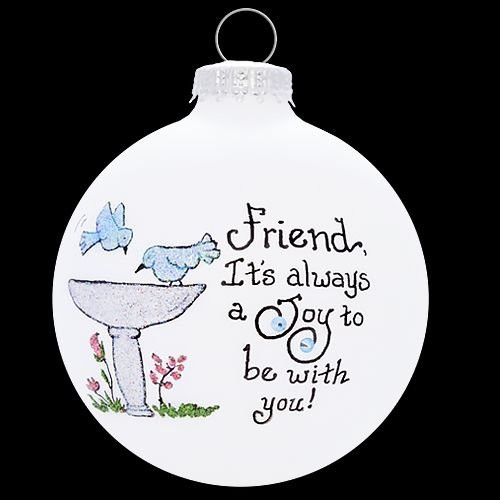 Heart Gifts by Teresa - USA Made Friend Bird Bath Ornament