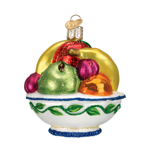 Old World Christmas - Fruit Bowl Ornament