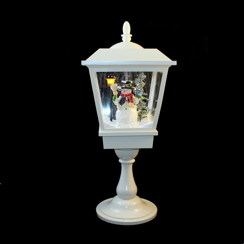25 inch High Northlight Animated Musical Snow Lamp Post