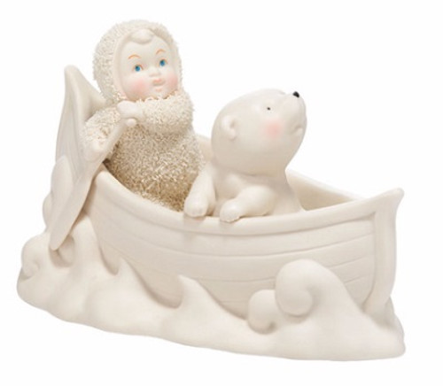 Snowbabies Two in A Canoe
