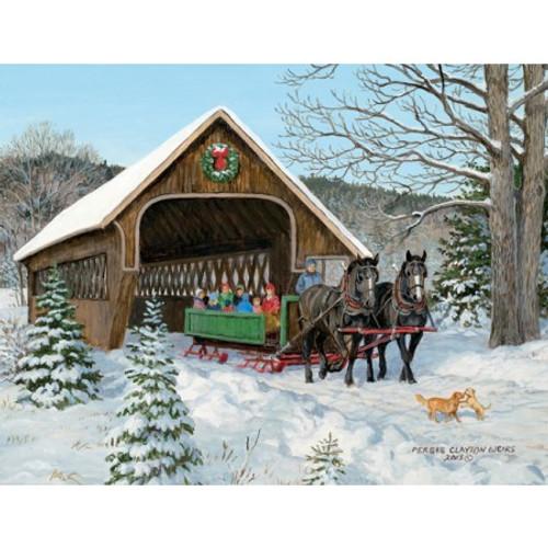 SLEIGH RIDE BOXED CHRISTMAS CARD