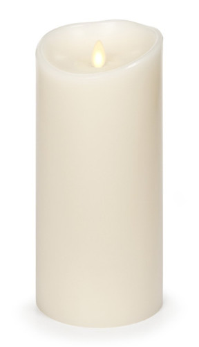 """Luminara Flameless Candle: Vanilla Scented Moving Flame Candle with Timer (9"""" Ivory)"""